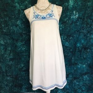 altar'd State / Blue Floral Embroidery Shift Dress